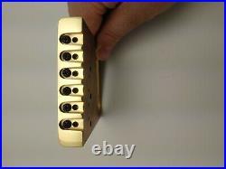 Fender Brass Telecaster Bridge Assembly Genuine Kahler NOS Parts