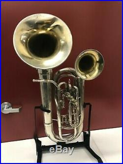 Frank Holton Double Bell Euphonium 2 bells 4 valves original case