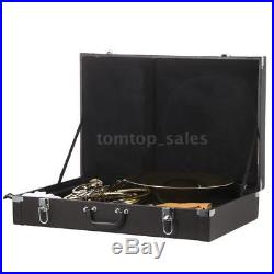 French Horn B/Bb Flat 3 Key Brass Gold Lacquer Single-Row Split + Case Care Kit