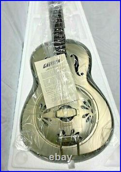 Gretsch G9201 Honey Dipper Round-Neck Brass Body Biscuit Cone Resonator Guitar