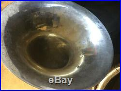 HN WHITE SILVER KING SOUSAPHONE 1950'S With GOLD WASH 26 BELL GREAT CONDITION