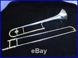 H. N. White King 2B Silversonic, Rare U. S. Navy Vintage Trombone