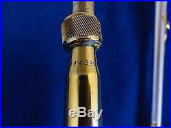 H. N. White King Silvertone Trombone, Vintage, Gold and Sterling Silver Bell