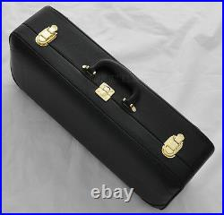 High-quality Black Nickel Plated C Key Trumpet Engraving Bell Horn New Case