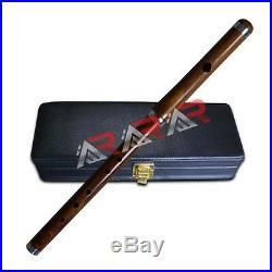 Irish Professional Scottish Marching Bb Flute 2Pcs Black Hard Case Highland AAR