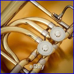 John Packer 232 Lacquer Bass Trombone/2 rotor valves-SemiPro Huge 9.5 Bell