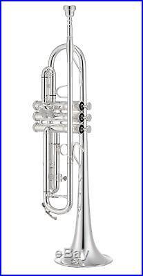 Jupiter 1100MS Trumpet. 460 Bore, Yellow Brass Bell, Silver-Plate Brass Body