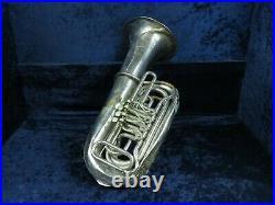 Karl Ziess BBb Master Modelle Silver 4 Valve Bell Up Rotary Tuba Ser#12194
