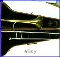 King 2B Liberty Slide Trombone H. N WHITE CO Cleveland Ohio 230783 Case Vintage