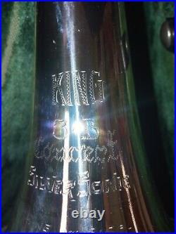 King 3B Concert Silver Sonic Trombone. Sterlingsilver Bell. Vintage Original