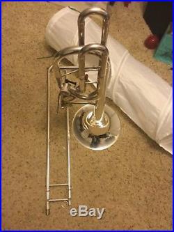 King 8B doube-trigger silver bass trombone