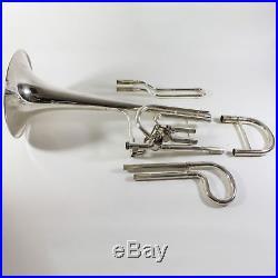 King Duo Gravis Bb Dependent Bass Trombone in Silver Plate