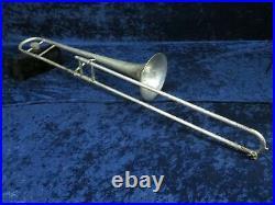 King Liberty 2B Silver Trombone Ser#366851 Great Overhaul Candidate Plays