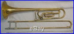 King Model 607 F Trigger Trombone Serial # 43351698 In Carry case