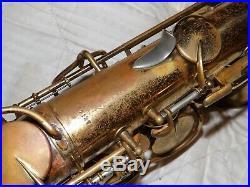 King Zephyr Alto Saxophone #271XXX, Reverse Socket Neck, 3-Ring, Plays Great