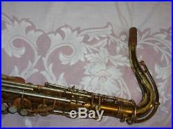 King Zephyr Tenor Saxophone #295XXX, Cleveland, Reverse Socket, 1947, Plays Great