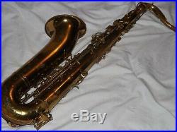 King Zephyr Tenor Saxophone #349XXX, Reverse Socket, Looks Rough, Plays Great