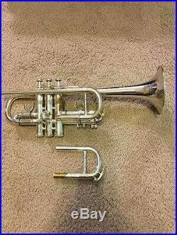 LA Benge Eb/D Trumpet Silver Plated
