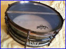 LOVELY early vintage BLACK BEAUTY, DELUX SNARE DRUM BY LUDWIG 5x14