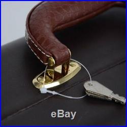 Leather Trumpet Hard Case Gig Bag Box Handheld Water-resistance Storage 2 Locks