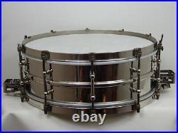 Ludwig 25'-35'Super-Ludwig Sensitive Brass 14 x5' Snare Drum Vintage