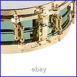 Ludwig LW0414CP Carl Palmer Venus 3.7 x 14 Brass Piccolo Snare Drum, Green