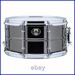 Ludwig LW0713C Black Magic 7x 13 Brass Snare Drum, Chrome Hoops and Tube Lugs