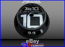 MASSIVE AUDIO Woofer Chuchero High SPL Car Speaker 10-inch +12 FT SPEAKER CABLE