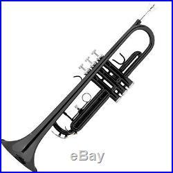 Mendini Bb Trumpet Black Lacquered Student Band +Tuner+Case+CareKit MTT-BK