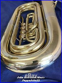 Mirafone Miraphone 184 3/4 BBb Tuba 4 rotary valves UPRIGHT BELL 1986 Restored
