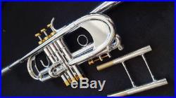 Monette Style Bb C Trumpet (Silver) withD2H Heavy Cap Mouthpiece