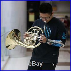 Muslady Gold French Horn B/Bb Flat 3 Key Brass Single-Row Split WithCase New F2D5