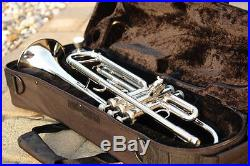 NEW 2017 Bb B Flat SILVER NICKEL Trumpet & YAMAHA Care Kit SHIPS From WEST COAST