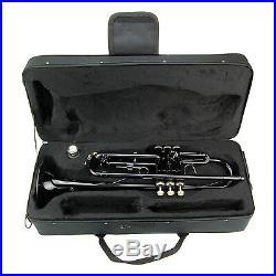 NEW Merano B Flat Black / Silver Trumpet, Case Band Beginner Student Orchestra