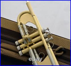 NEW Professional Matt Brushed Brass Bb Trumpet Horn Monel With Case
