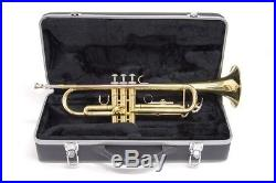 New Bb Brass Trumpet B Flat withHard Case Great for Students Beginners School Band