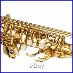 New Brass School Student Practice Alto Saxophone Sax Kit Golden Color