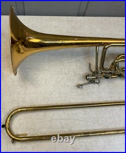 Nice Benge 290 Double Rotor Bass Trombone In Good Playing Condition