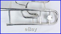 Olds Ambassador Custom Made Double Bell Trombone USA with Custom Made Wood Case
