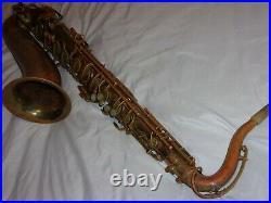 Original Buescher Big B True Tone Aristocrat Tenor Saxophone, 1949, Plays Great