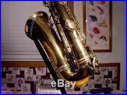 Original Lacquer Selmer Super Balanced Action Alto Saxophone w High F# 1953