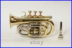 Pocket trumpet BB pitch with Hard case And Mouthpiece