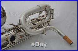 Prof. Taishan Silver nickel Eb Baritone Saxophone +2necks