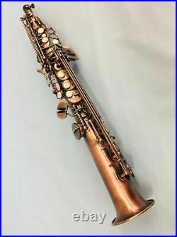 Professional Antique Soprano Straight Saxophone Sax New