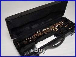 Professional Black Gold Soprano Straight Saxophone Sax