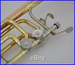 Professional Double Rotor Bass Trombone Bb/F/Eb&Bb/F/D/Gb Rose Brass Bell New