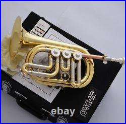 Professional JINBAO Gold Rotary Valve Bb Cornet Horn Cupronickel Pipe With case