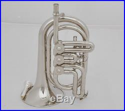 Professional JINBAO Silver Nickel Rotary Valve Cornet Trumpet Horn Leather Case
