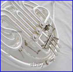 Professional Silver 103 Model Double French Horn F/Bb Key Detachable Bell +Case