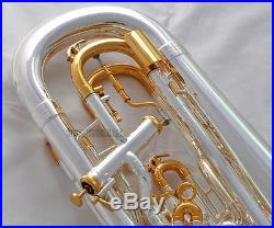 Professional Silver Plated Compensating Euphonium Trigger Key With Case Warranty